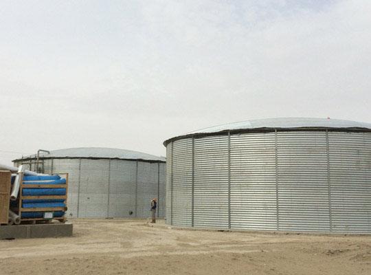 стальной вертикальный резервуар воды РВС 1000
